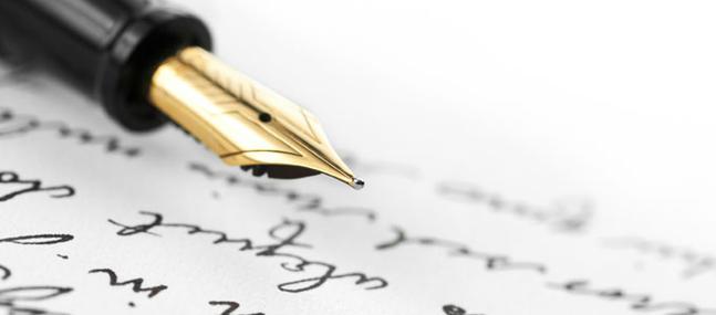 un stylo plume en gros plan