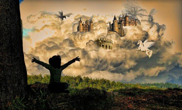 un enfant qui fait face à un univers merveilleux